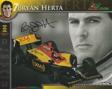 2006 Bryan Herta signed XM Satellite Radio Honda Dallara Indy Car postcard