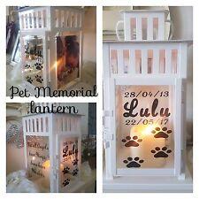 PET Memorial LANTERNA Indoor Outdoor Candela personalizzata Cane Gatto Tomba
