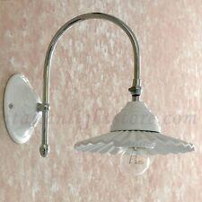 APPLIQUE LAMPADA PARETE CLASSICO ACCIAIO CROMO CROMATO CERAMICA BAGNO INGRESSO