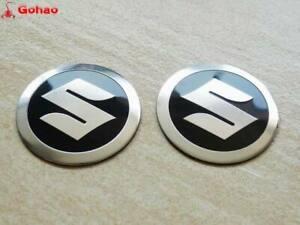 2pcs Aluminum Gas Tank Badge Emblem Decal for Suzuki 2.2 inch