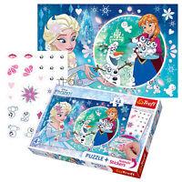 Trefl 54 Piece Puzzlespiel + Marker Gefrorene Elsa Zauberei Schneemann Mädchen