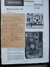 Original Grundig Tonbandgeräte Service C 110