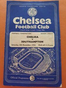 8/12/56 Chelsea Reserves v Southampton Reserves