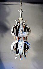 Vintage Chandelier Pendant Light Shabby  Chic 1960's Sea Shell Lamp FIXTURE LAMP
