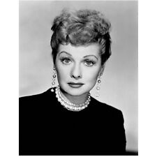 Lucille Ball in Black and White Seated Close Up 8 x 10 Inch Photo