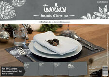Tischsets Platzsets Weihnachten 24 Blatt Block placemat Christmas Mediterran