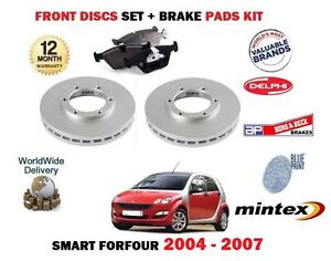 FOR SMART FORFOUR FOR FOUR 2004-2007 FRONT BRAKE DISCS SET & DISC PADS KIT