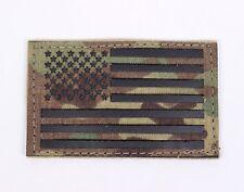 LBT-1781Q Cordura Multicam Flag Patch American Flag USA Forward Facing Hook Back