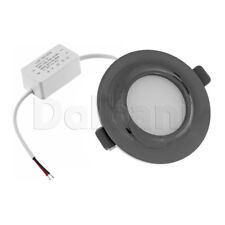 5W 3000k Black Pearl Modern Slim Design Ceiling Round Panel Down Light