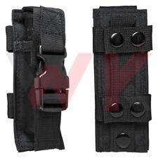Tactical Single Pistol Double Stack Magazine Clip Pouch MOLLE PALS Belt Black