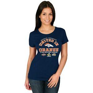 Denver Broncos Women's 3X Super Bowl United- t-shirt-Blue