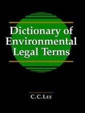 Dictionary of Environmental Legal Terms-ExLibrary