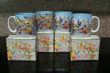 Walt Disney World ~ 25Th Anniv ~ Remember the Magic ~ Four (4) Coffee Mugs ~ Nib