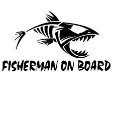 Fly Fisherman Fishing Sticker Decal For Car Laptop Luggage Window Bumper Angling