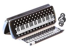 New 4 piece musical stationary combo Pencil case mechanical pencil eraser ruler