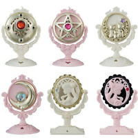 Sailor Moon Antique Style Stand Mirror Gashapon set of 6 Black Lady Luna