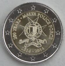2 Euro Malta 2014 200 Jahre maltesische Polizei unz