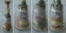 Vintage SAND ART SCULPTURE Made Colorado Mountains Moose Landscape Cruet Bottle