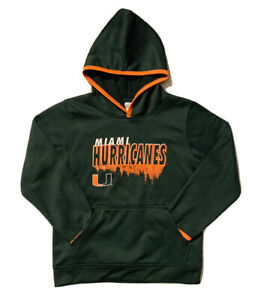 NEW NCAA Miami Hurricanes Boys Youth Green Pullover Hoodie Size S (6/7)