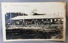 1915 DODGE CENTER Minn CHICAGO GREAT WESTERN Railroad DEPOT Real PHOTO Postcard