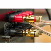Screw Lock Audio Banana Plugs Gold Plted Speaker Wire Cable Connector Black Red