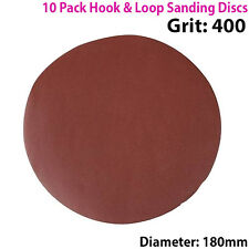 Qty 10 - 180mm 7 Pulgadas los discos de lijar 400 Grit-Lijadora De Órbita-Hook & Loop