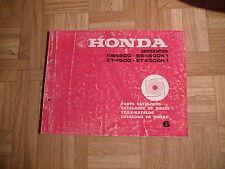 Original Ersatzteilliste Honda Generator ES 4500, ES 4500K1, ET 4500, ET 4500K1
