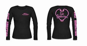Womens Salt Addiction long sleeve heart  hooks,reel,life,shirt,reel,fishing