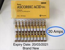 Korea Huons Ascorbic Acid Vitamin C Anti-Aging Whitening Facial Mask 2mlx20amps