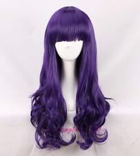 DAIDOUJI TOMOYO wig purple 60cm long wavy curly cosplay wig +a wig cap