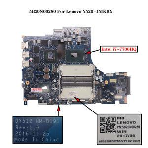 5B20N00280 ForLenovo Y520-15IKBN Motherboard DY512 NM-B191 i7-7700HQ GTX 1050Ti