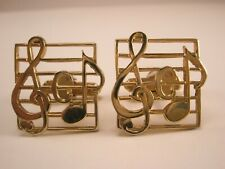 -Sheet Music Vintage ANSON Cuff Links conductor band instructor musician