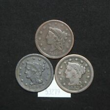 West Point Coins ~ 1838 - 1847 - 1853 (3) Large Cents