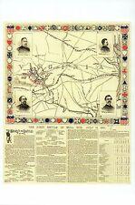 First Battle of Bull Run Civil War Panoramic Map, VA -- Modern Military Postcard