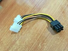 Dual Molex (4 Pin) to PCI-E (6 Pin) Power Converter Connector -For Graphic Cards