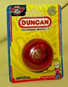 YO YO DUNCAN IMPERIAL 3269NP FLAMBEAU CORP 2004 NEW RED GOLD 75TH ANNIV 1929*