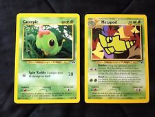 Pokemon Neo Discovery Metapod 42/75,& Caterpie 53/75 Ex/NM