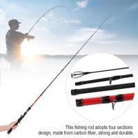 4 Section Carbon Fiber Fishing Rod Ultra Light Portable Sea Spinning Travel Pole