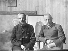 Photo.  1900s. Norway. Fridtjof Nansen & Erik Werenskiold - Painter's Workshop