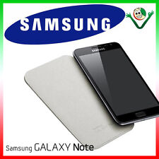 Custodia Pouch Pelle ORIGINALE SAMSUNG per Galaxy Note 1 N7000 i9220 BIANCA