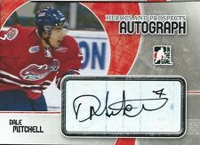 (HCW) 2007-08 ITG Heroes and Prospects DALE MITCHELL Auto Autographs In the Game