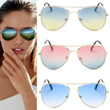 Mens Womens Retro Fashion Aviator Mirrored Lens Polarized Sunglasses Eye Glasses