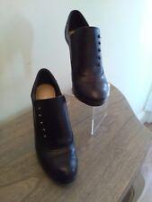 Ladies size 5.M&S Autograph.Black leather,Victorian style.Stiletto shoe boots
