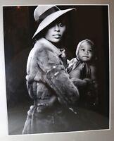 original essence magazine Cynthia Bailey portrait illustration B&W photograph