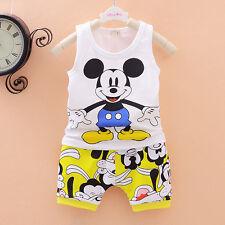 baby boys clothes  summer sleeveless Tee+short pants kids boys outfits cartoon