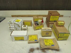 LOT of 26! SQUARE D , MISC. RELAYS , BUTTONS, BREAKERS, COILS, NIB! NO RESERVE!