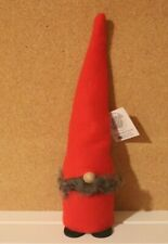 """Nwt Larssons Tra Sweden Tranemo Red Wooden Santa with Beard 10"""" Tall"""