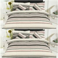 Luxury Bradbury Stripe Duvet Cover Set With Pillowcase Quilt Bedding Covers Sets