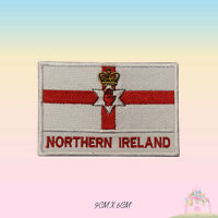 Northern Ireland National Flag With Name Embroidered Iron On Patch Sew On Badge