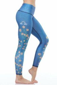 Teeki Women's Yoga Leggings Woodstock Medium Pilates Fitness Gym Made In USA